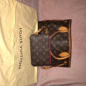 Louis Vuitton bag with wristlet